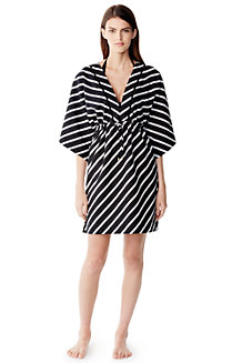 Women's  Silk Blend Stripy Mid-length Kaftan