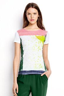 T-Shirt, Pinselstrich