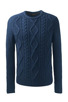 Men's Merino Blend Cable Sweater