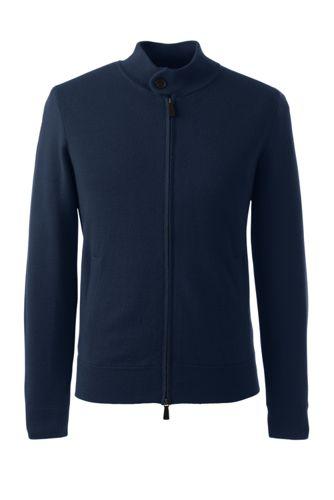 Men's Regular Merino Blend Sweater Jacket