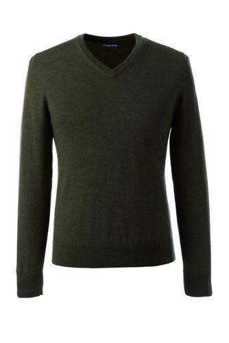 Merino-Pullover mit V-Ausschnitt für Herren