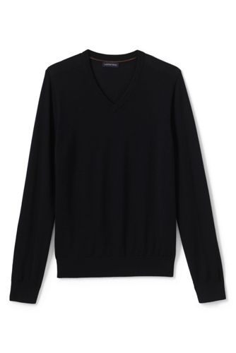 Men's Regular Merino V-neck Jumper