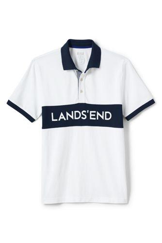 Men's Athleisure Chest Stripe Polo