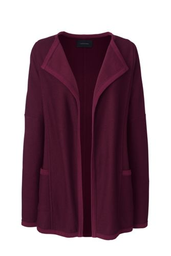 Women's Open Front Textured Cardigan