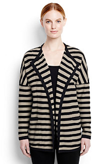 Women's Stripe Starfish Open Cardigan