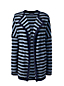 Women's Regular Stripe Starfish Open Cardigan