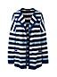 Women's Plus Striped Open Front Textured Cardigan