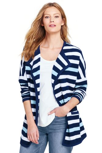 Le Cardigan Starfish™ Long Rayé, Femme Stature Standard
