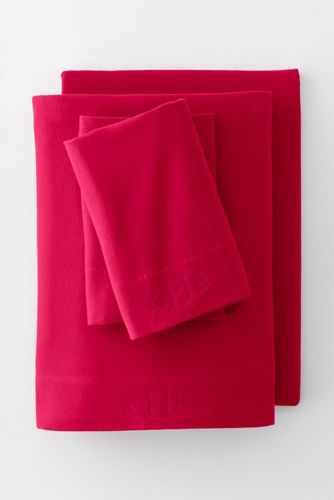 5oz Velvet Flannel Fitted Sheet by Lands' End
