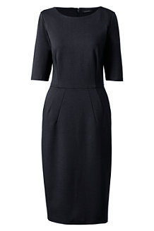 Women's Ponte Jersey Darted Dress