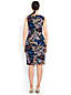 Women's Regular Print Ponte Jersey Sleeveless Darted Dress