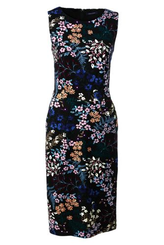 Womens Regular Print Ponte Jersey Sleeveless Darted Dress - 12 - BLACK Lands End Pay With Paypal Cheap Online Popular Online Cheap Online 6tDEGnn