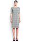 Women's Regular Jacquard Ponte Jersey Darted Dress