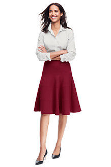 Women's Ponte Jersey Seamed Skirt