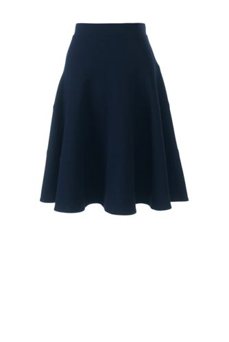 Women's Regular Ponte Jersey Seamed Skirt