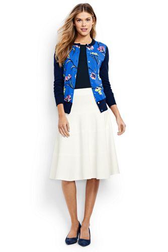 Women's Regular Ponte Jersey Seamed Skirt