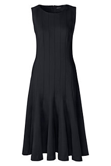 Women's Ponte Jersey Seamed A-line Dress