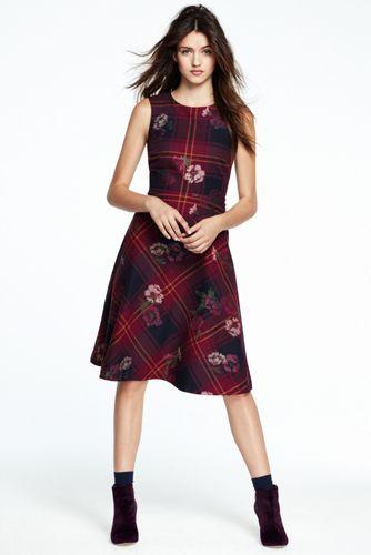 Gemustertes, Ärmelloses Kleid für Damen