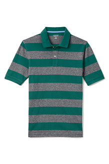 Men's Wide Stripe Traditional Fit Piqué Polo