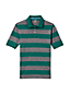Men's Regular Wide Stripe Traditional Fit Piqué Polo