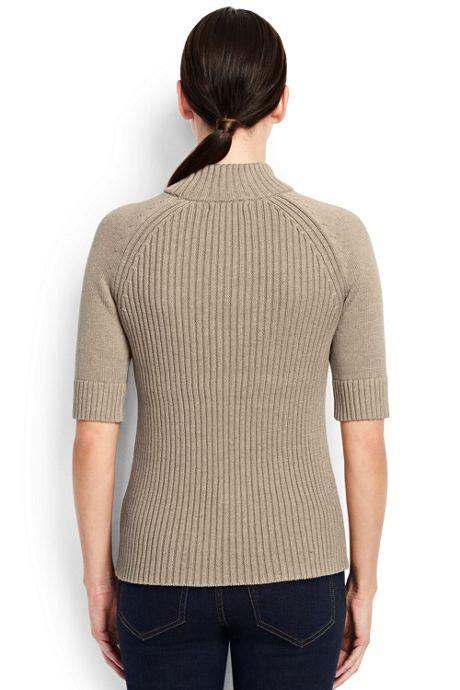 Women's Tall Elbow Sleeve Rib Mock Sweater