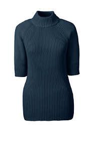 Women's Elbow Sleeve Rib Mock Sweater