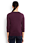 Le Pull Supima® Brodé Manches 3/4, Femme Stature Standard