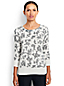 Women's Regular Patterned Fine Gauge Supima® Crew Neck