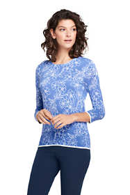 Women's Tall Supima 3/4 Sleeve Print Sweater