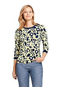 Womens Supima Cotton 34 Sleeve Sweaters