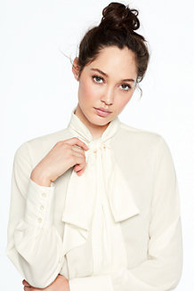 Women's Bow Tie Blouse