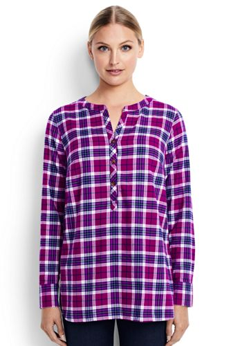 Women's Regular Lightweight Brushed Flannel Tunic
