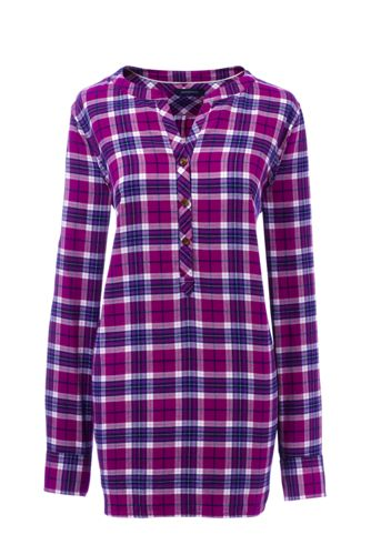 Women's Regular Lightweight Brushed Flannel Tunic