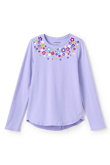 Girls' Long Sleeve A-line Graphic Tee