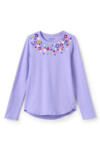 Little Girls' Long Sleeve A-line Graphic Tee