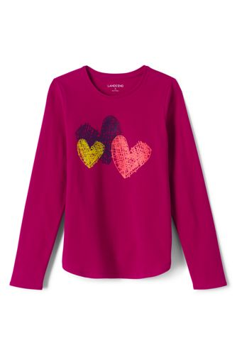 Toddler Girls' Long Sleeve A-line Graphic Tee