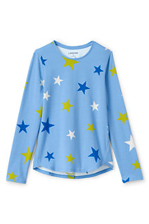 Girls' Long Sleeve A-line Print Tee