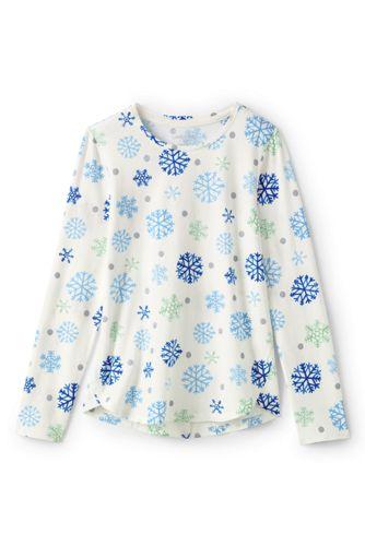 Toddler Girls' Long Sleeve A-line Pattern T-shirt