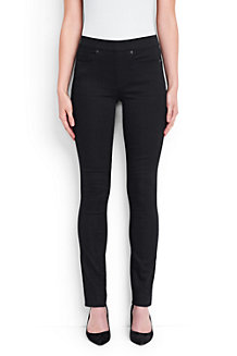 Women's Xtra Life Black Denim Mid Rise Pull-on Skinny Jeans