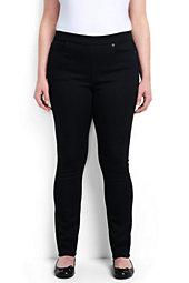 Women's Plus Size Mid Rise Pullon Skinny Jeans
