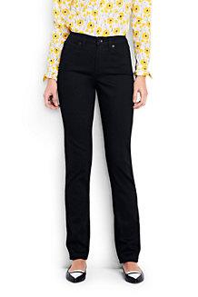Schwarze Xtra Life Straight Jeans
