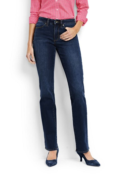 Women's Petite Mid Rise Boot Cut Jeans