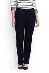Women's Plus Size Mid Rise Bootleg Jeans-Heritage Indigo Wash