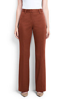 Womens Straight Leg Chinos - 14/16 - RED Lands End