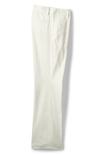 Le Chino Large Stretch Taille Mi-Haute, Femme Stature Standard