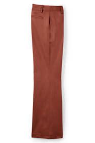 Women's Plus Size Petite Mid Rise Chino Trouser Pants