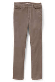 Women's Plus Size Mid Rise Straight Leg Corduroy Pants