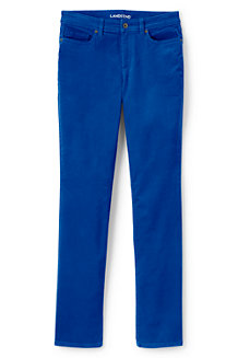 Women's Mid Rise Straight Leg Cord Jeans