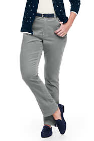 Women's Plus Size Mid Rise Straight Leg Corduroy Pants