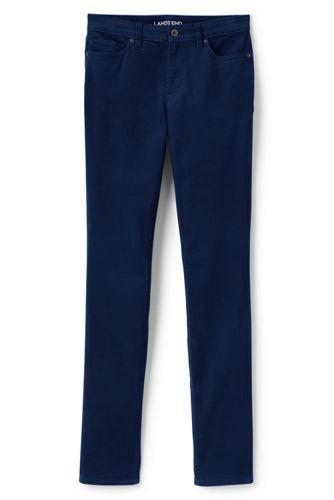 Le Pantalon Slim Stretch en Velours Côtelé Taille Mi-Haute, Femme Stature Standard